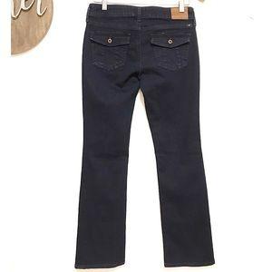 Lucky Lolita boot cut jean with button pocket dark